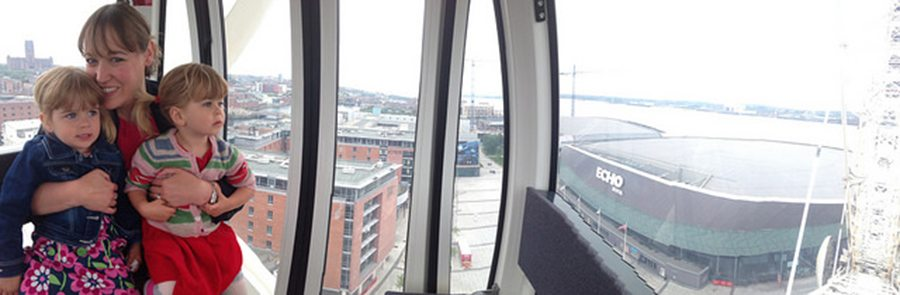 on the big wheel. day-trip-to-liverpool-with-kids-3 www.minitravellers.co.uk