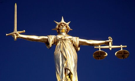 The Scales of Justice on top of the Old Bailey