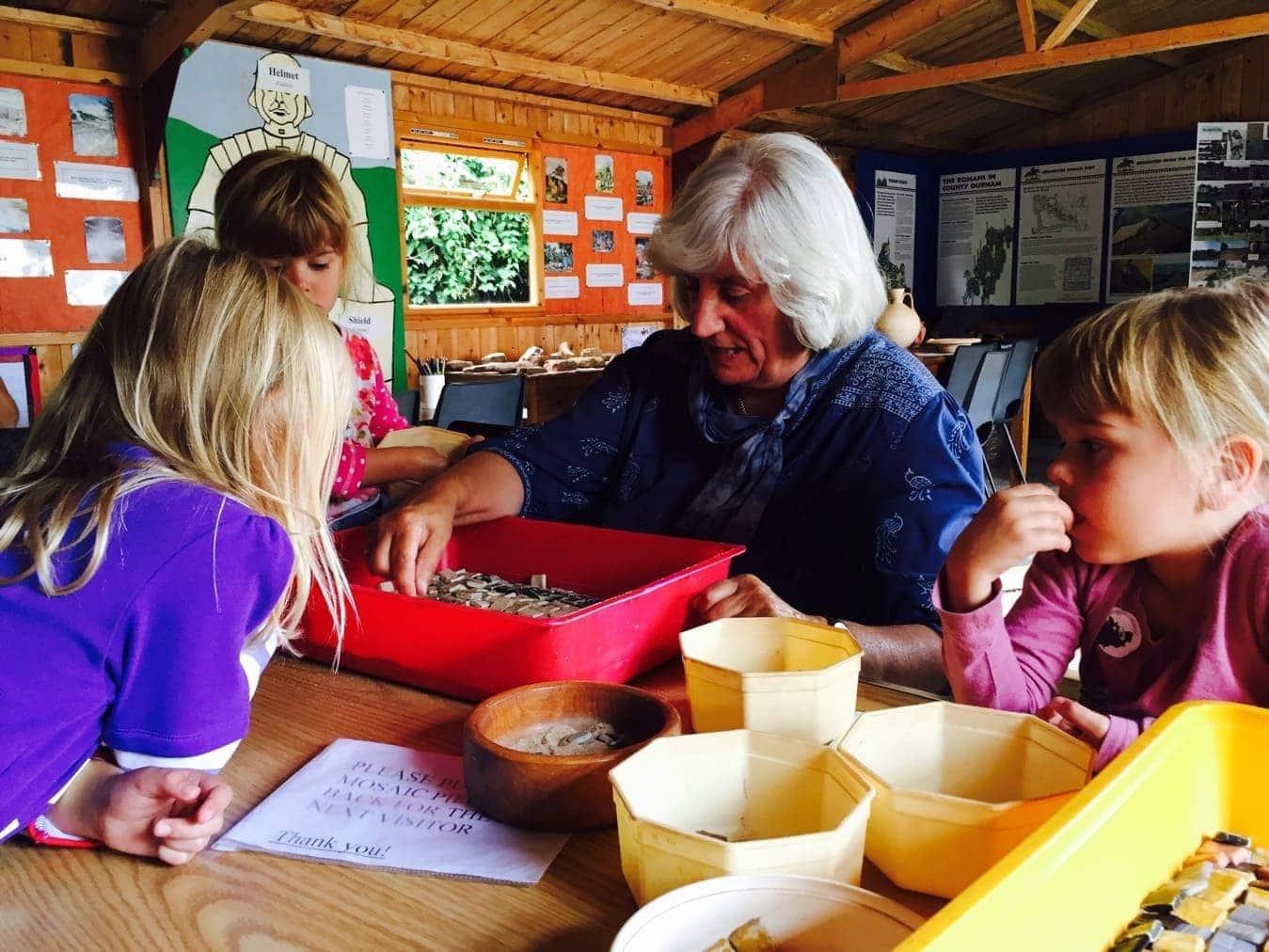 Binchester Fort with Children