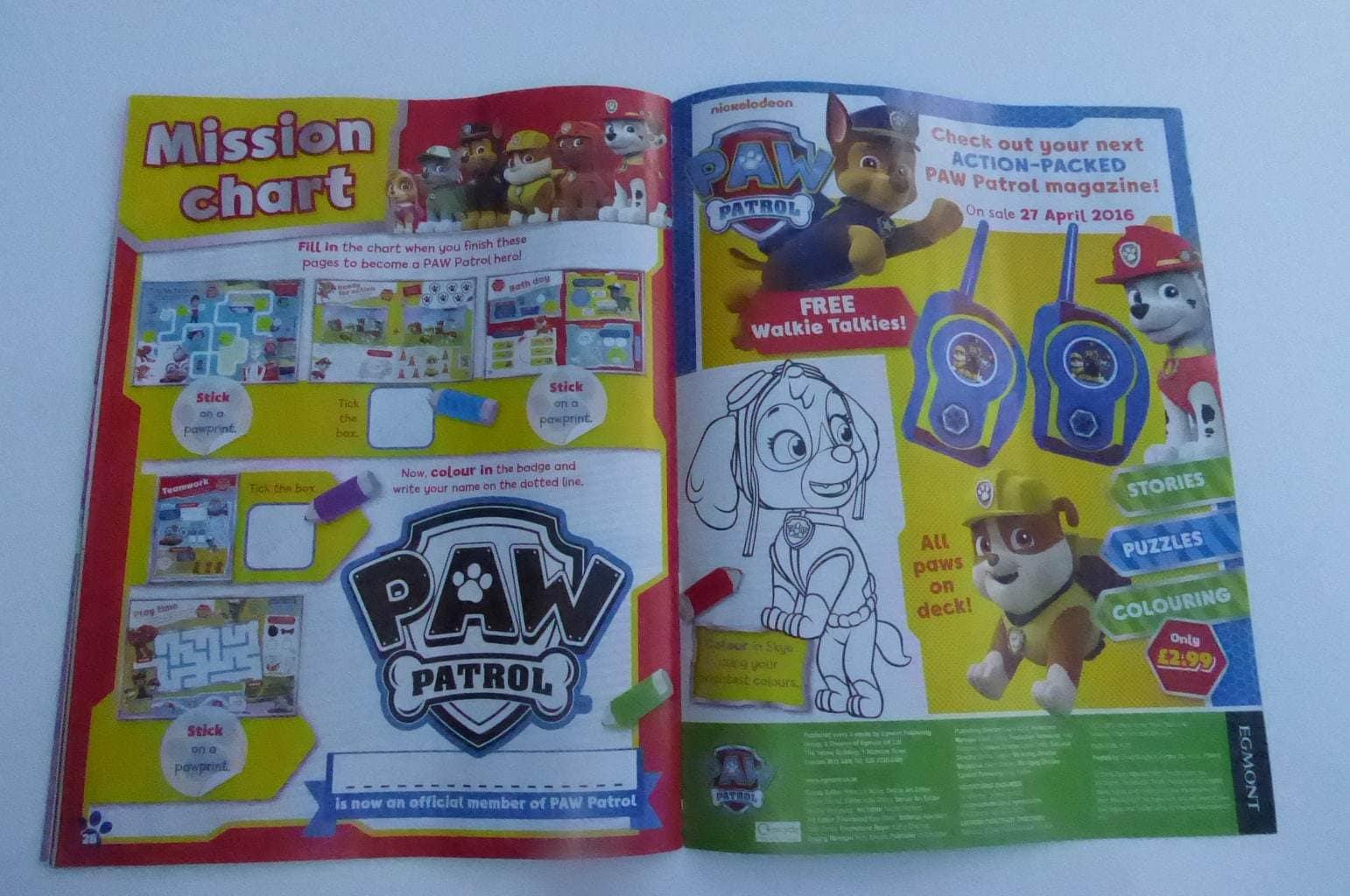 Paw Patrol Magazine Review