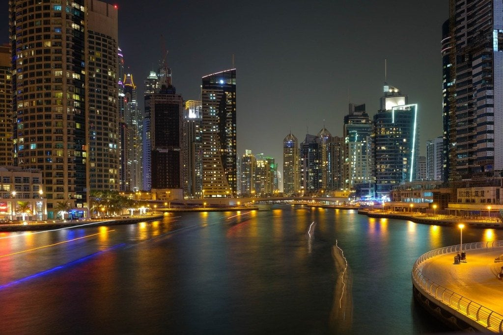 Dubai Marina Lights