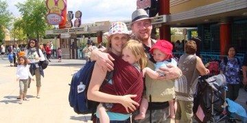 Baby Wearing at Disney
