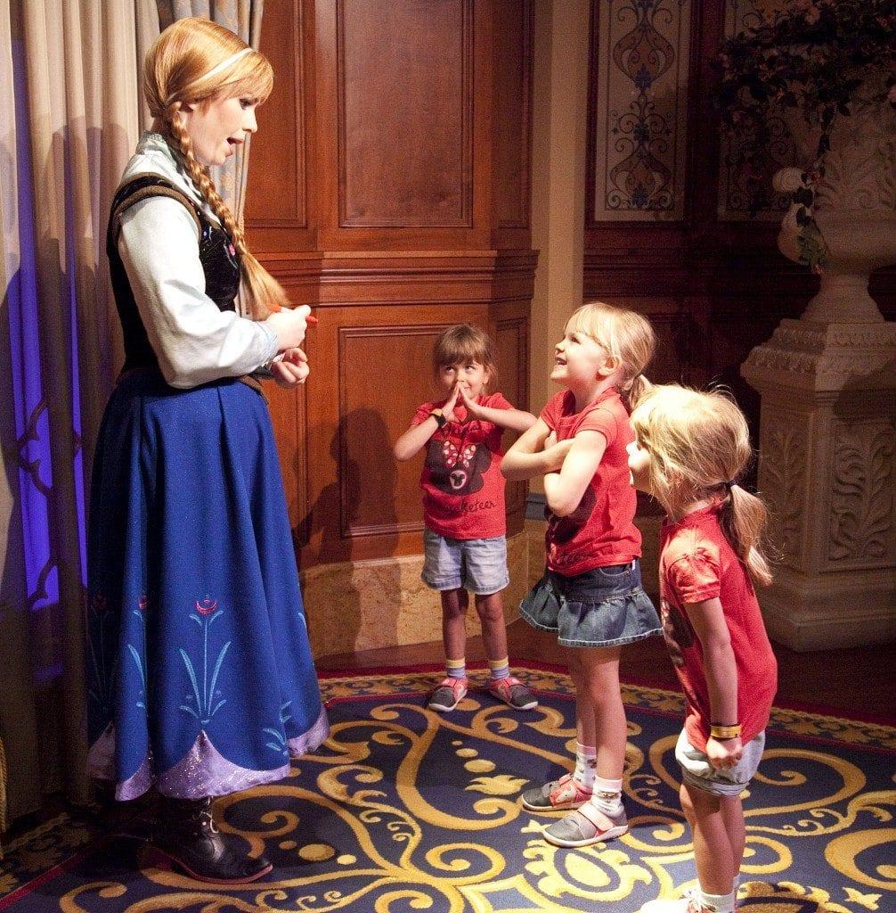 Meeting Anna at Magic Kingdom