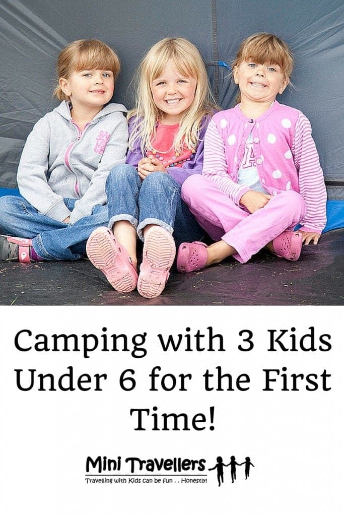 Camping with 3 Kids Under 6 for the First Time