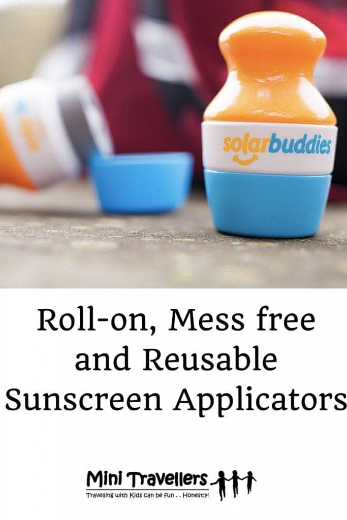 Solar Buddies are roll-on, mess free and reusable sunscreen applicators - perfect for children who need to apply sunscreen at school