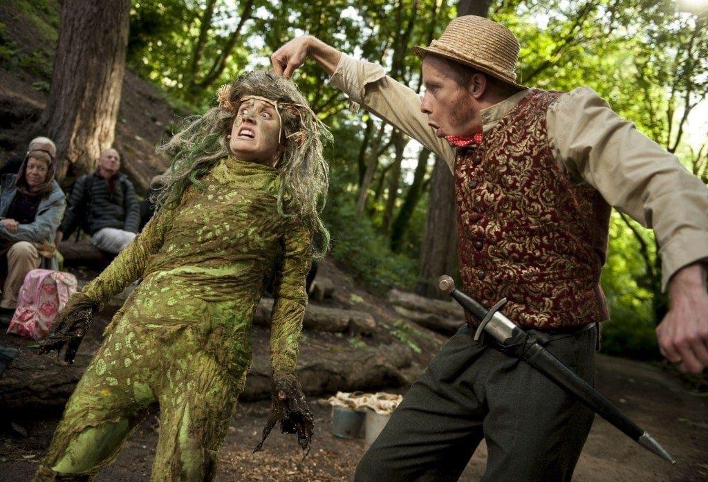 Gollum(Josie Cerise) and Bilbo Baggins(Gareth Cassidy)