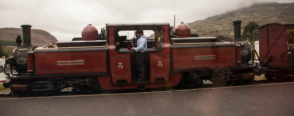 the Ffestiniog Railway which departs Blaenau Ffestiniog before making its way to Porthmadog