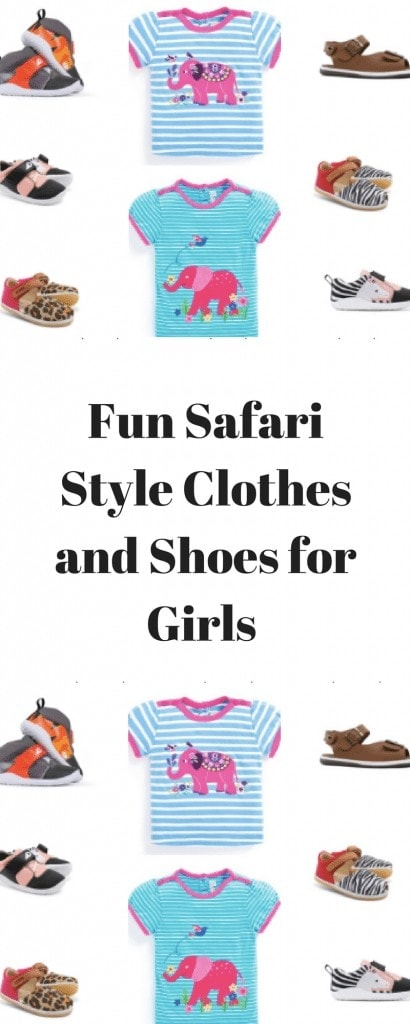 Fun Safari Style Clothes and Shoes for Girls www.minitravellers.co.uk