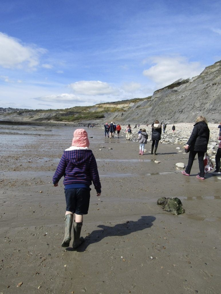 Fossil Hunting on Charmouth Beach www.minitravellers.co.uk