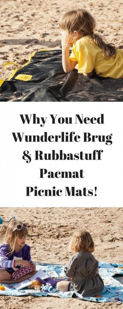 Wunderlife Brug & Rubbastuff Pacmat - Picnic Mats! www.minitravellers.co.uk