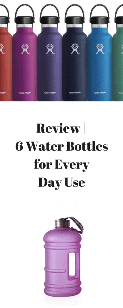 Review - 6 Water Bottles for Every Day Use www.minitravellers.co.uk