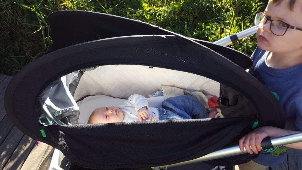 Review: Cozigo for Babies to Sleep on the Go www.minitravellers.co.uk