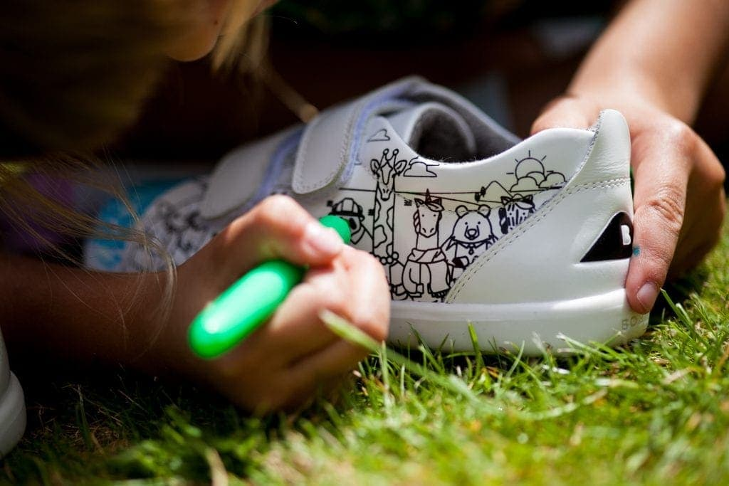 Bobux 'Custom' Colour Shoes - The Shoes You Can Colour In www.minitravellers.co.uk