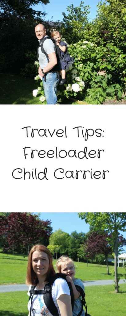 Discover why the Freeloader Child Carrier is great for holidays and days out, as part of my travel tips series on Mini Travellers
