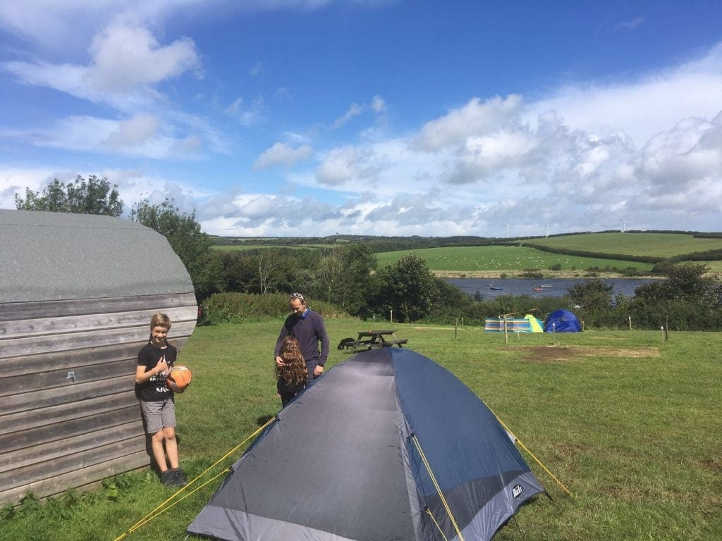 Glamping at Tamar Lake | Family Friendly Campsite Cornwall www.minitravellers.co.uk