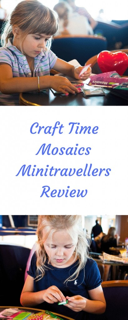 Craft Time Mosaics - A great way to entertain children when travelling. Find out what makes them good for travelling in my review, part of my travel tips series.