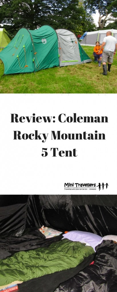 Review- Coleman Rocky Mountain 5 Tent www.minitravellers.co.uk