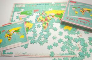 World map jigsaw - as featured in my Christmas gift guide featuring gifts for travel lovers