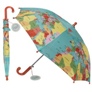 World map children's umbrella - as featured in my Christmas gift guide featuring gifts for travel lovers