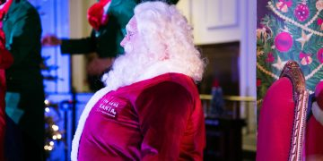 Santa's Christmas Party at the Cunard Building, Liverpool www.minitravellers.co.uk