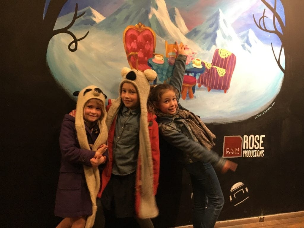 Enjoying Rose Theatre's Christmas production, Alice in Winterland