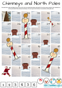 Chimneys and North Poles - our Free Christmas Travel Game Printable