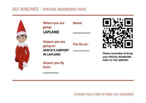 Santa's Lapland Boarding Pass www.minitravellers.co.uk