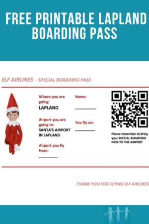 free printable Lapland Boarding Pass