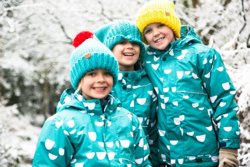 Children's jackets from Muddy Puddles, perfect for a trip to Santa's Lapland for Christmas Day