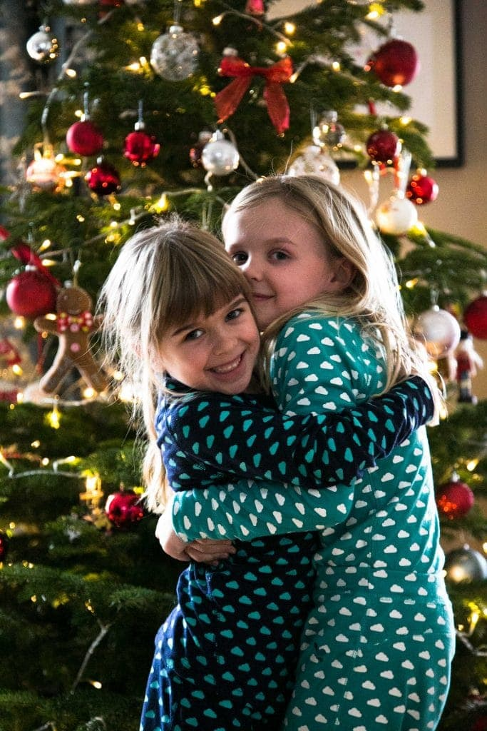children happy to visit santas lapland for christmas day