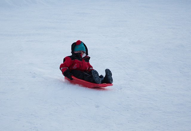 Sledding at Santa's Lapland