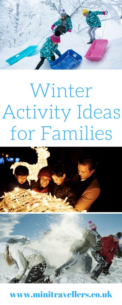 Some top Winter activity ideas for families including sledging, airboarding, dog sledding and more! Find the list at Mini Travellers #familytravel #Winter #holidaytips