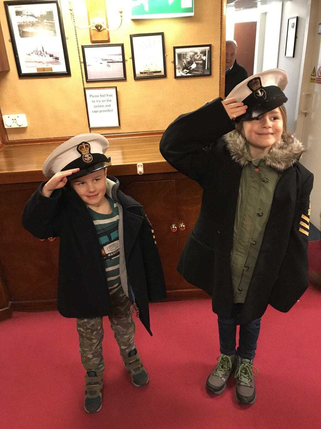 Visiting Royal Yacht Britannia as part of the 7 Places to Visit on a Family City Break in Edinburgh www.minitravellers.co.uk