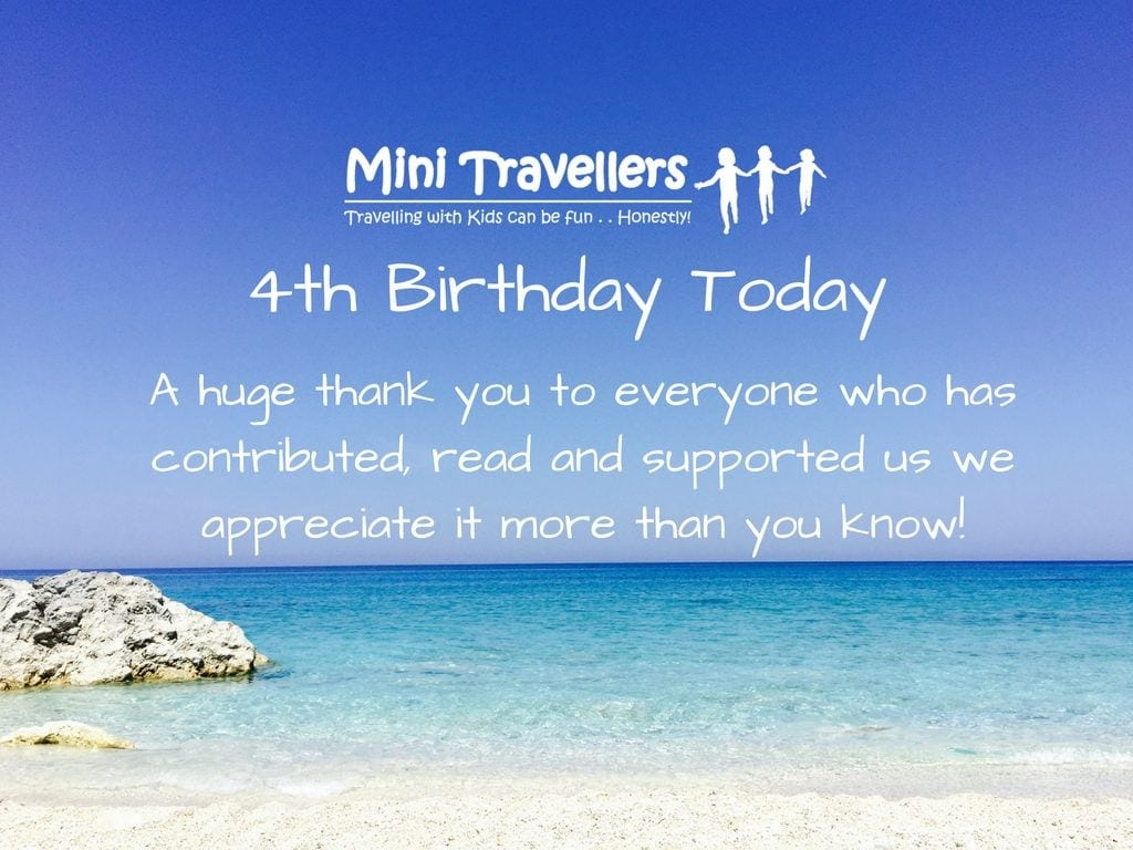 Mini Travellers is Four Today!