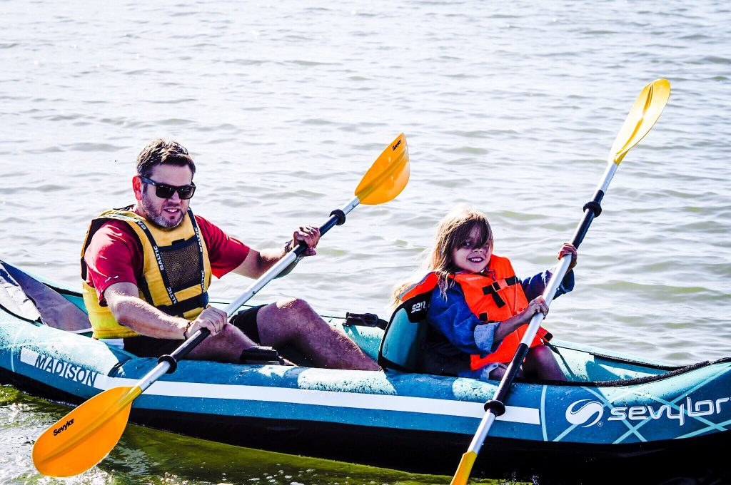 Kayaking as a family with the Sevylor Madison 2 People Inflatable Kayak