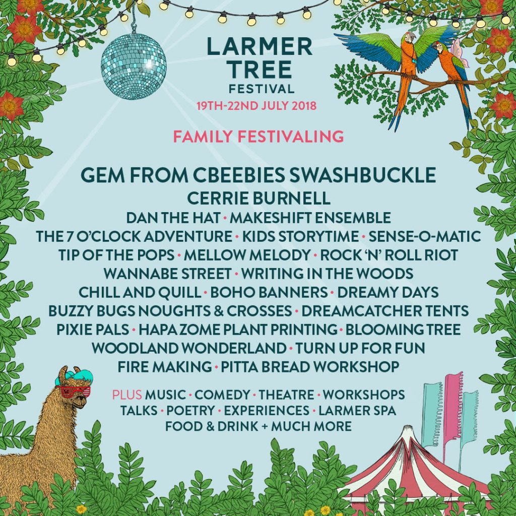 Larmer Tree Festival 19th -22nd July 2018