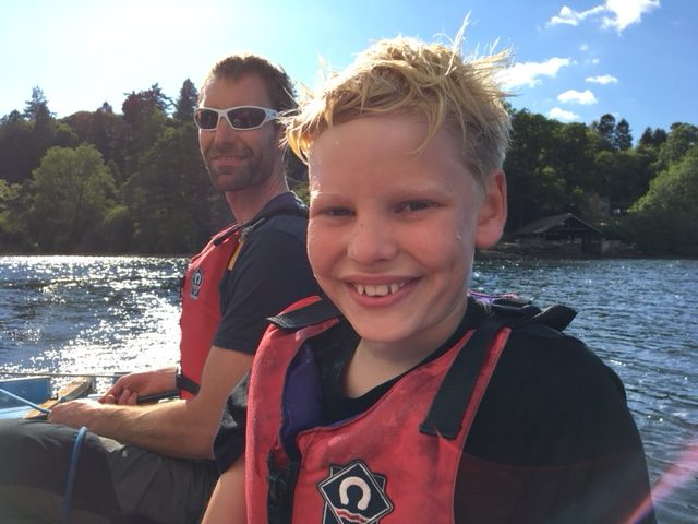 Learning to sail with kids in the Lake District