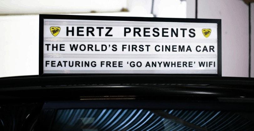 The World's First Cinema Car