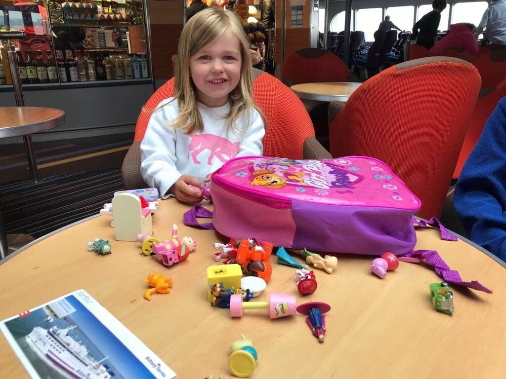 Entertaining the kids onboard Brittany Ferries from Portsmouth to Cherbourg, France