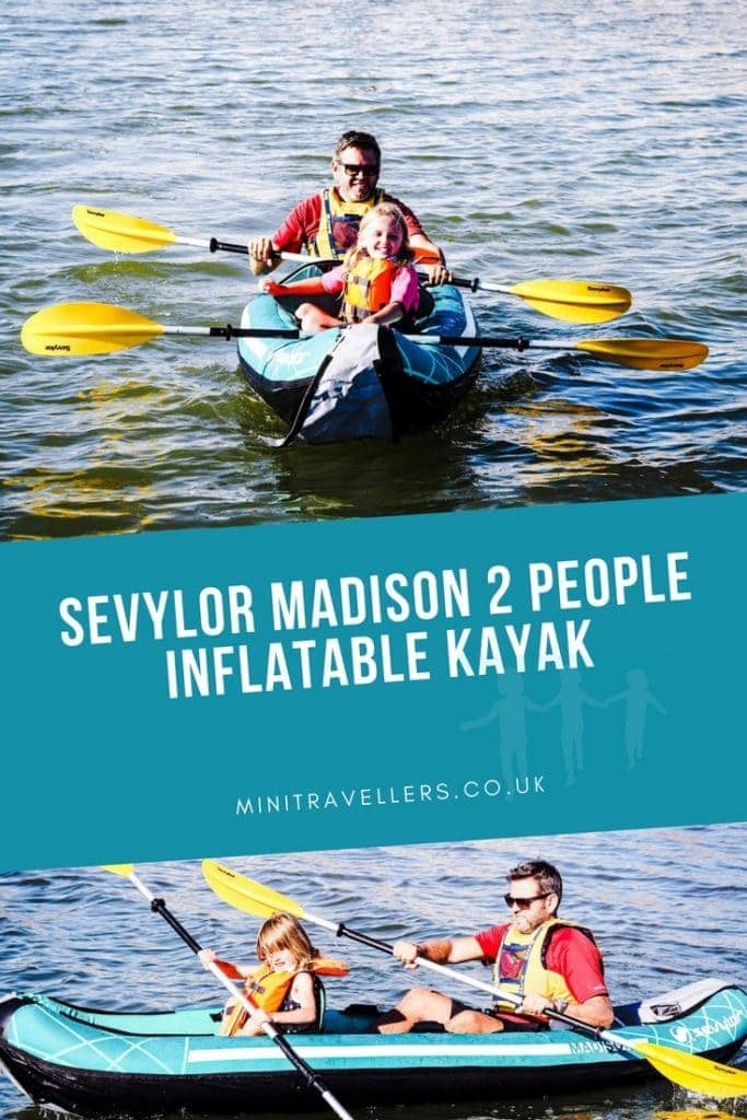 Read our review of the Sevylor Madison 2 People Inflatable Kayak, a lightweight inflatable kayak that's great for family kayaking. Part of the travel tips series on Mini Travellers