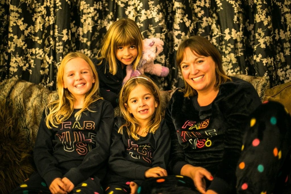 Matching cosy Christmas pjs for a family night in