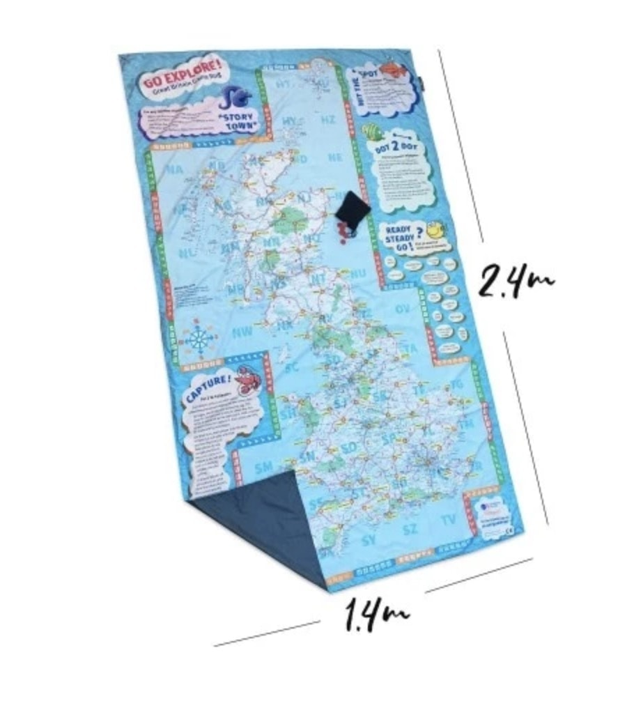 """Butterflies Family Waterproof Picnic Mat.  Size: 140 cm x 140 cm Price: £39.99 Material: microfibre polyester surface; water-proof rip stop nylon base """"I absolutely adore our PACMAT. So beautiful, yet durable and waterproof. It's also super lightweight and folds up tiny. I take it camping and on days out. It's always in my bag and and ready to be unfurled at a moments notice."""""""