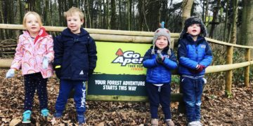 Go Ape Tree Top Junior course at Leeds Castle