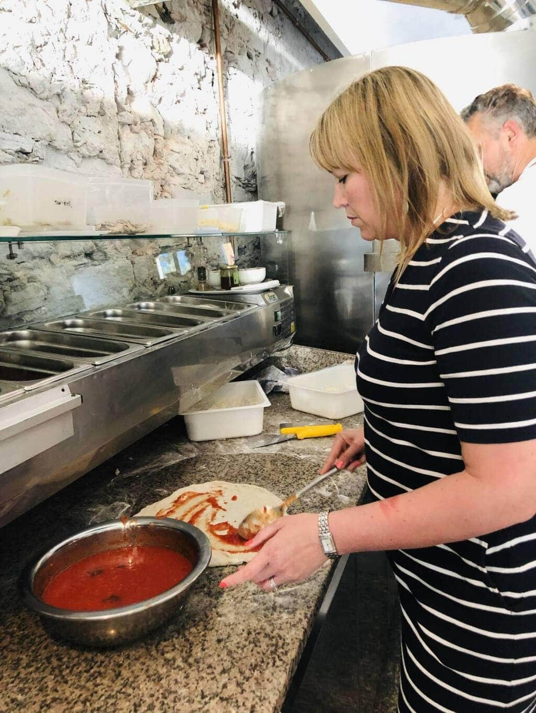 Pizza Making at Golfo Gabella