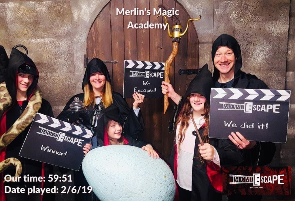 MoviESCAPE – Merlin's Magic Academy Escape Room