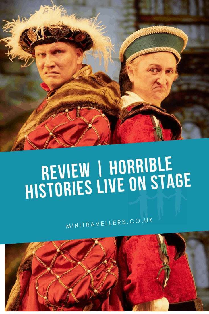 I took two 8 year olds and a 9 year old to watch Terrible Tudors at the Storyhouse Chester. The show is part of the Horrible Histories Live On Stage productions by the Birmingham Stage Company and crikey it's good!