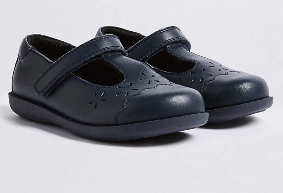 M&S Kids' Leather School Shoes