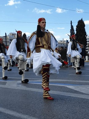 Syntagma Square and the changing of the guard ceremony
