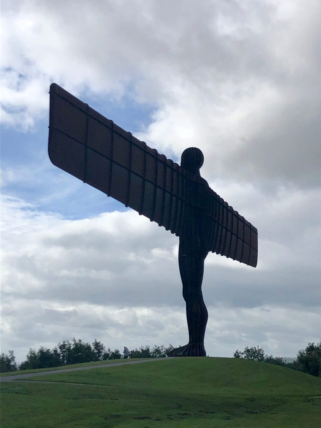 Visiting the Angel of the North, Low Eighton, Gateshead