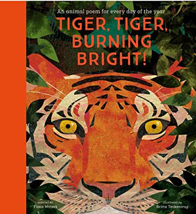 Tiger, Tiger, Burning Bright! Poems selected by Fiona Waters, illustrated by Britta Teckentrup (Nosy Crow)